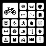 Sports and healthy icons set Royalty Free Stock Photos