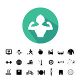 Sports and healthy icons set Royalty Free Stock Photography
