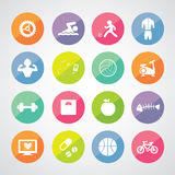 Sports and healthy icons set Royalty Free Stock Photo