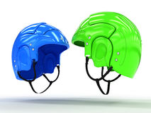 Sports helmets of different colors #4 Royalty Free Stock Photography