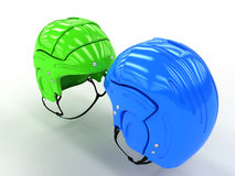 Sports helmets of different colors #5 Royalty Free Stock Photo