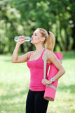 Sports and hydration Royalty Free Stock Photos