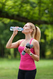 Sports and hydration Stock Image
