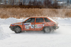 Sports ice competitions on cars Royalty Free Stock Image