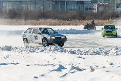 Sports ice competitions on cars Royalty Free Stock Photography