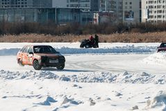 Sports ice competitions on cars Stock Image