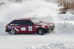 Sports ice competitions on cars Royalty Free Stock Photos