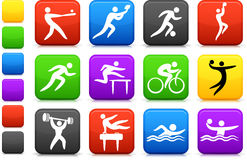 Sports icon collection Royalty Free Stock Images
