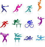 Sports icon collection Royalty Free Stock Image