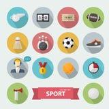 Sports icon flat Stock Image
