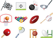 Sports icon set Stock Images