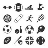 Sports Icon Set. Sports Sign and Symbol Icon Set Royalty Free Stock Images