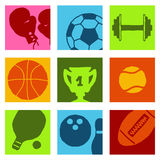 Sports icons 1 Royalty Free Stock Photography