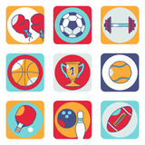Sports icons 1 stock photography