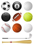 Sports icons. Isolated on white. Vector illustration Royalty Free Stock Image