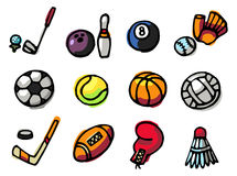 Sports icons Royalty Free Stock Images