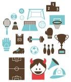 Sports icons B Stock Photo