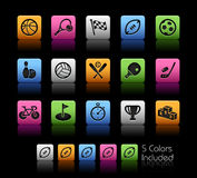 Sports Icons // Color Box Royalty Free Stock Image