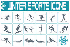 Sports icons. Different winter sports icons set Stock Image