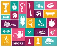 Sports icons in flat style. Vector illustration royalty free illustration
