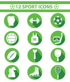Sports icons,Green version Royalty Free Stock Photo