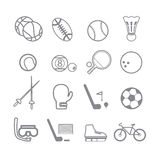 Sports icons line Royalty Free Stock Image