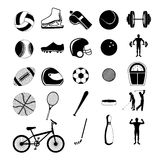Sports icons. Over white background vector illustration Stock Photo