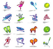 Sports icons set 2 Royalty Free Stock Photography