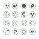 Sports Icons. A set of 16 sports icons stock illustration