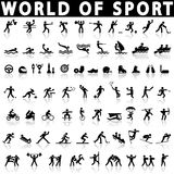 Sports icons set. Stock Image