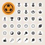 Sports Icons set. Illustration EPS10 Royalty Free Stock Photos