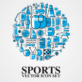 Sports  icons set outline twotone Royalty Free Stock Photography