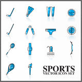 Sports  icons set outline twotone Stock Photography