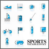 Sports  icons set outline twotone Royalty Free Stock Image