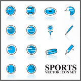 Sports  icons set outline twotone Royalty Free Stock Images