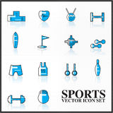 Sports  icons set outline twotone Stock Images