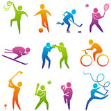 Sports icons. Set of sports icons, vector Royalty Free Stock Photos