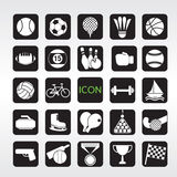 24 Sports Icons Set. Stock Photography
