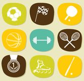 Sports icons set Stock Photography