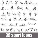 Sports icons. Summer sports pictograms Royalty Free Stock Photo