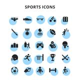Sports Icons. For web design and application interface, also useful for infographics. Vector illustration Royalty Free Stock Photo
