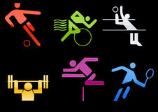 sports icons web2 Royalty Free Stock Photo