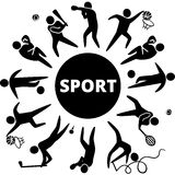 Sports icons. World of sports. Vector illustration of sports icons Stock Photography