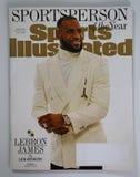 Sports Illustrated tidskrift Sportsperson av frågan för år 2016 med Lebron James Arkivbild