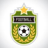 Sports illustration soccer football badge Stock Photos