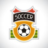 Sports illustration soccer football badge Royalty Free Stock Photography