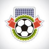 Sports illustration soccer football badge Stock Photo
