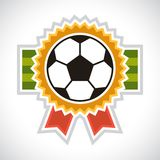 Sports illustration soccer football badge Royalty Free Stock Photos