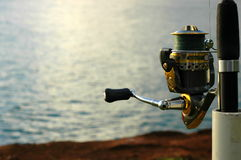 Sports Image Of A Fishing Rod and Reel Royalty Free Stock Photography