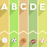 Sports infographic Royalty Free Stock Image